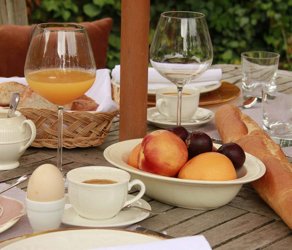 Ontbijt Villa terras